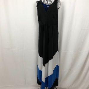 Studio One V-neck chevron maxi dress XLP